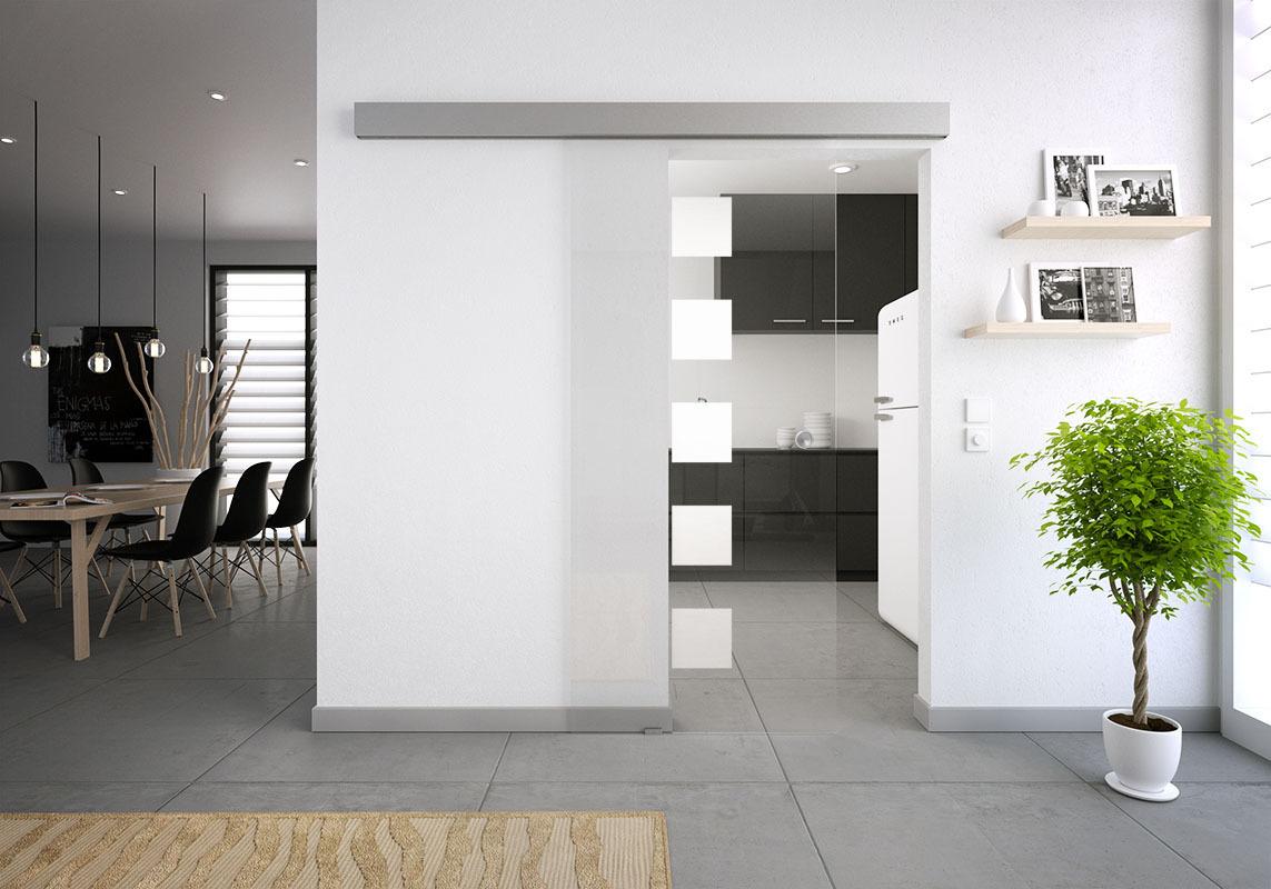glasschiebet r set 2sag mattiert motiv 5 quadrate anka. Black Bedroom Furniture Sets. Home Design Ideas