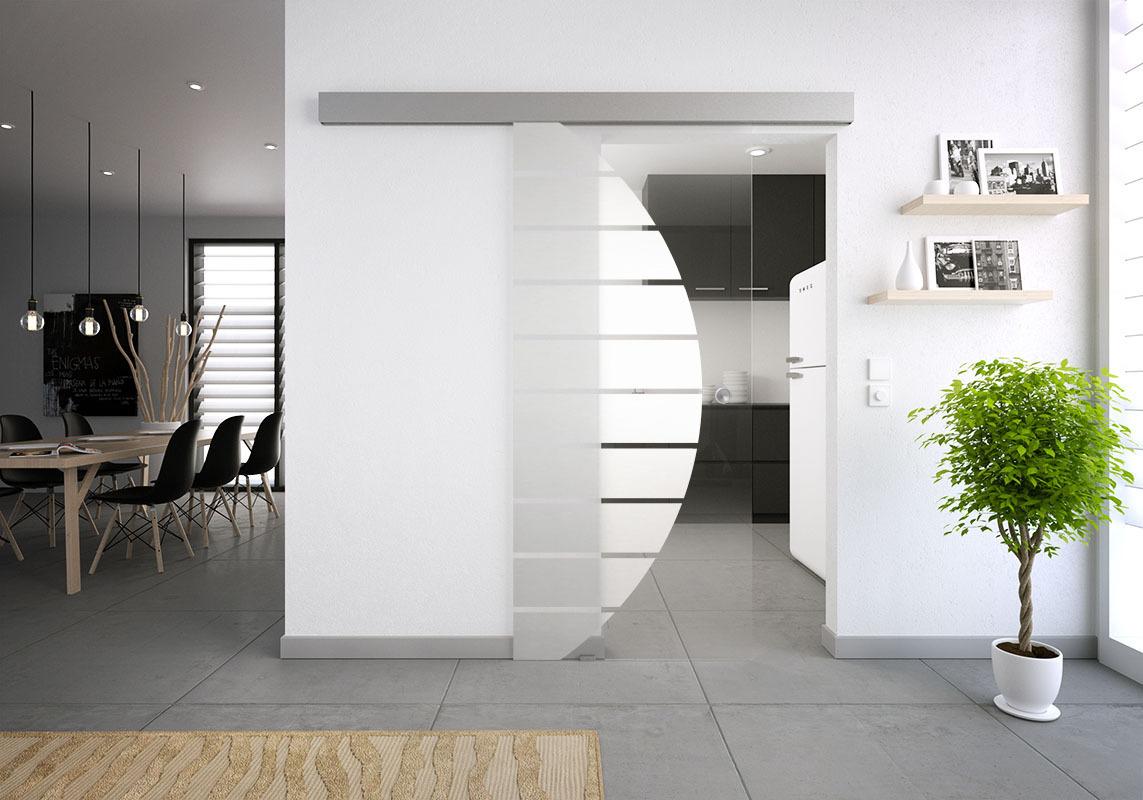 glasschiebet r set 4sag mattiert motiv halbkreis streifen glasschiebet ren glastrennw nde. Black Bedroom Furniture Sets. Home Design Ideas