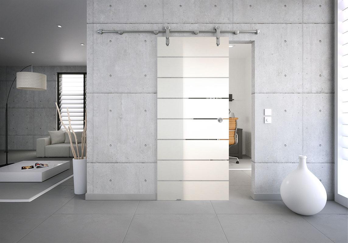 glasschiebet r set 5sag mattiert motiv 8 block streifen glasschiebet ren glastrennw nde. Black Bedroom Furniture Sets. Home Design Ideas